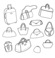 sketch Set of bags vector image