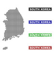 south korea map in dot style with grunge title vector image