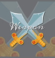 style design medieval crossed sword vector image