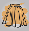 Stylish skirt model hand drawn vector image vector image