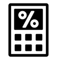 Tax Calculator Flat Icon vector image