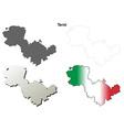 Terni blank detailed outline map set vector image vector image