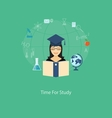 time for study vector image vector image