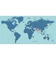 Timezone world map