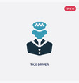 two color taxi driver icon from professions jobs vector image