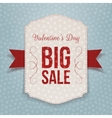 Valentines Day big textile Banner and red Ribbon vector image