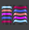 variety decorative ribbons set vector image vector image