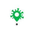 virus location icon pin to infected area indicate vector image vector image