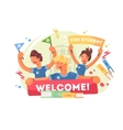 Welcome to university vector image vector image