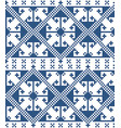 zmijanje cross stitch folk seamless pattern vector image