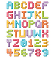 alphabet icons vector image