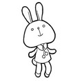 cute rabbits vector image