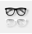 White and black glasses vector image