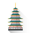 flat japan multistory pagoda icon vector image