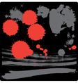 Grunge drops vector image