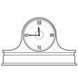 mantel clock vector image