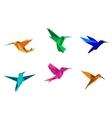 Origami hummingbirds
