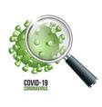 a corona virus seen with a vector image vector image