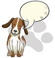 A dog thinking vector image vector image