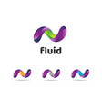 abstract colorful fluids logo sign symbol icon vector image vector image