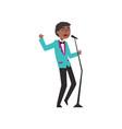 african american jazz singer wearing retro elegant vector image vector image
