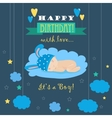Baby theme It s a boy card vector image
