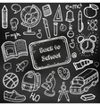 Back to School doodle set Hand draw school items vector image vector image