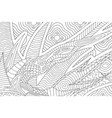 Beautiful coloring book page with abstract pattern