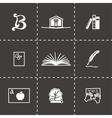 Book icon set vector image