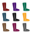 boots icon in black style isolated on white vector image vector image