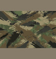 brush stroke seamless camouflage print vector image vector image