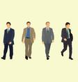 businessmen walking vector image vector image