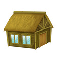 Cartoon hut vector image vector image