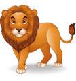 cartoon lion character vector image vector image