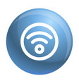 circle wifi icon outline style vector image vector image