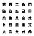 City Elements Icons 1 vector image vector image