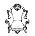 classic armchair royal style decotations vector image vector image