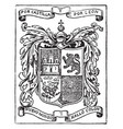 Coat of arms of columbus had not yet been vector image
