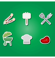color icons with symbols of barbecue vector image
