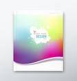 Cover annual report abstract watercolor design vector image vector image