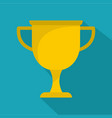cup award icon flat vector image vector image