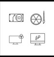 design and studio simple linear icon setsimple vector image vector image