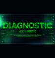 diagnostic banner medical background vector image