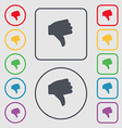Dislike Thumb down icon sign symbol on the Round vector image vector image