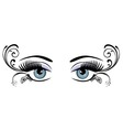 eyes floral blue vector image vector image