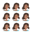 face expressions african american woman vector image