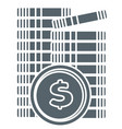 finance and economy pile us dollars coin vector image vector image