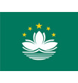 flag of macau china vector image vector image