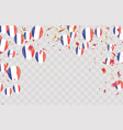 france flags and france balloons garland with vector image