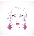 Front expressive look of fashion woman vector image vector image